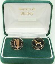 1958 Irlanda Gemelli realizzati in vecchio Irish sei pence in nero e oro