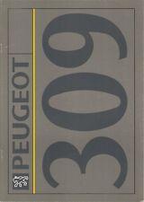 Peugeot 309 1991-92 UK Market Sales Brochure Style GL GLD GLX GRD Turbo GTi