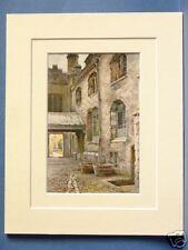 KITCHEN WALL PETERHOUSE CAMBRIDGE VINTAGE DOUBLE MOUNTED HASLEHUST PRINT 10 X 8