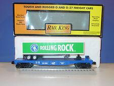 MTH - RAIL KING - # 30-76277 - ROLLING  ROCK  TRAILER  w/  FLAT CAR