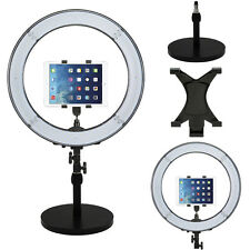 """Prismatic LED Halo 18"""" Ring Light with Weighted Light Stand & Tablet Mount"""