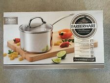 Farberware Millennium Stainless Steel 3 Quart Covered Saucepan **NEW In Box**