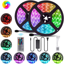 Led Strip Lighting 2*5M 32.8 Ft 5050 RGB 600 LEDs Flexible Color Changing Light