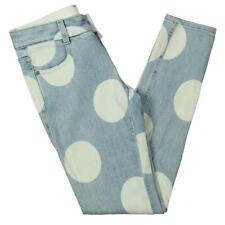 Stella McCartney Womens Blue Polka Dot Low Rise SKINNY Ankle Jeans 24 BHFO 6802