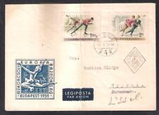 MAGYAR POSTA HUNGARY BUDAPEST 1955 NICE COVER SENT TO FAMAGUSTA/LIMASSOL CYPRUS