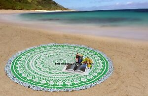 Ombre Mandala Round Ethnic Indian Beach Hippie Bohemian Wall Hanging Tapestry