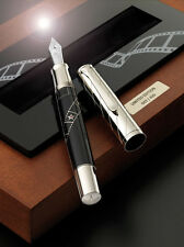 Pelikan Limited Edition Silver Screen  Fountain Pen Med Pt New In Box 222/420