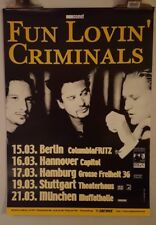 Fun lovin' criminals tour  Original Concert  poster