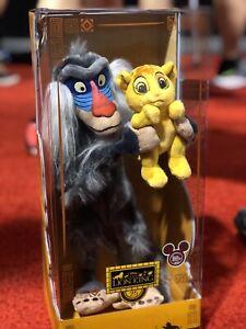 2019 D23 Expo The Lion King 25 Years Anniversary Rafiki and Simba Set LE 500