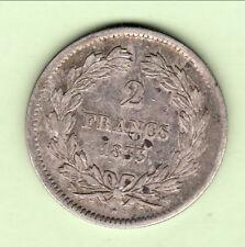 LOUIS PHILIPPE  TETE LAUREE  2 FRANCS 1833 W  W TTB