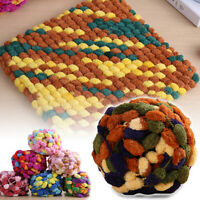 100g Thick Woolen Big Pom Pom Yarn for Hand Knitting Hat Scarf Blanket 45 Colors
