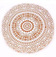 Ombre Round Cushion Cover Throw Bohemian Art Floor Cushion Ethnic Pillow Cover