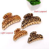 Fashion Women Leopard Hair Claw Hair Clip Clamp Hairband Headress Hair Accessory