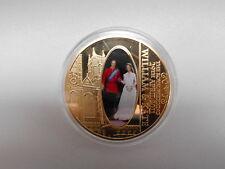 William und Kate  April 2011 Münze Medaille 40 mm 30 g vergoldet