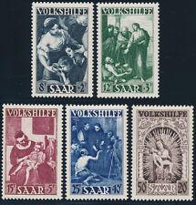 SAARLAND 1949, MiNr. 267-271, 267-71, tadellos postfrisch, Mi. 110,-