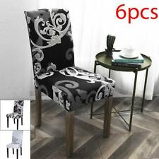 6PCS Stretch Dining Chair Covers Slipcovers Wedding Home Decor Seat Covers
