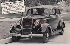 Postcard Car 1935 Ford V-8 Tudor Sedan