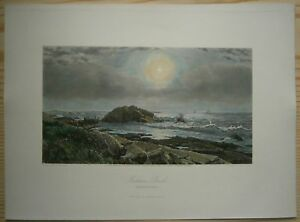 1872 Bryant print INDIAN ROCK, NARRAGANSETT BAY, RHODE ISLAND (#20)