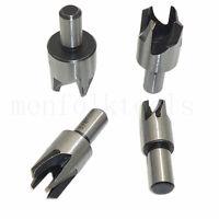 """4pcs Wood Plug Cutter Set Dowel Maker Tool Cutting Drill Bit 5/8"""" 1/2"""" 3/8"""" 1/4"""""""