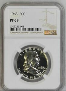 1963 Proof Franklin Half Dollar - NGC PF 69