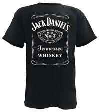Jack Daniels Men's Front Black Label Short Sleeve T-Shirt - Black 33261400JD-89