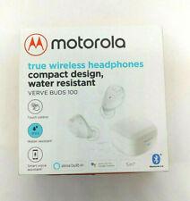 Motorola VerveBuds 100 True Wireless Earbuds, White