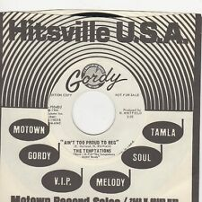 Temptations Aint Too Proud To Beg Gordy DEMO Soul Northern motown