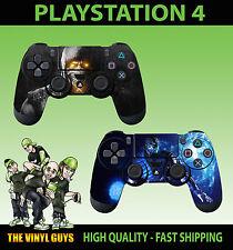 PS4 PLAYSTATION 4 Control Pad Adesivo MORTAL KOMBAT x Scorpian SUB ZERO Pelle X 2