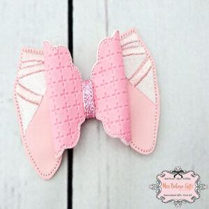 Ballerina Ballet Shoes Hair Bow Clip or Headband