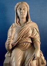 Demeter Ceres Greek Goddess Enthroned Museum Replica Mythology Pagan Statue #Dem