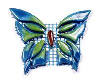 Mosaiksteine-SCHMETTERLING-Grösse:10x8cm-Farbe:blau-grün-handgefertigt