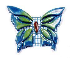 Mosaiksteine-SCHMETTERLING-Farbe:blau-grün-Variante 9