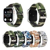 Sport Nylon Woven Apple Watch Band Strap iWatch Series SE 6 5 4 3 2 40/44 42 38