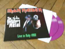 IRON MAIDEN Live in Italy 92 2Lp Vynil couleur gatefold 150 copies