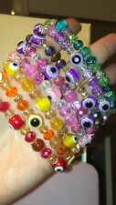Evil Eye Agate Gemstone Good Luck Protection Bracelet