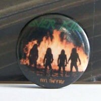 Rare Vintage Pin Metal Pinback 1980s 80s Retro Metal Over Kill Feel The Fire