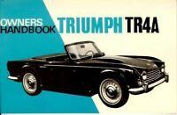 Triumph Tr4A 1965 1966 1967 1968  Owner'S Handbook Driver'S Glovebox Maintenance