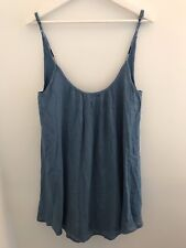 Beautiful Roxy Solid Blue Spaghetti Strap Tunic Top Medium NWT Casual