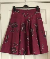 White Stuff Pleated Skirt Floral Print Size 10 Boho Festival Summer