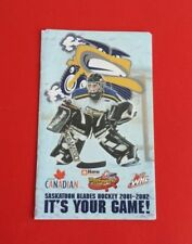 2001/02 WHL Saskatoon Blades Pocket Schedule***Western Hockey League***