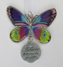 c Believe all things are possible BLISSFUL JOURNEY BUTTERFLY ORNAMENT Ganz