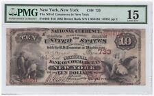 $10 1882 Brown Back FR#480 New York CH#733 PMG 15