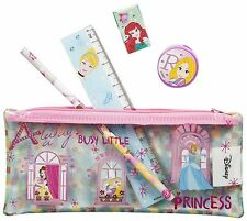 Girls DISNEY PRINCESS Filled Pencil Case Back To School 5 in 1 Stationery Set