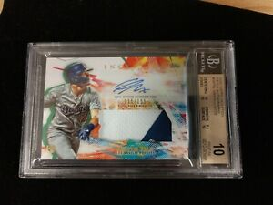 2020 Topps Inception, GAVIN LUX, RC/PATCH/AUTO, #15/155, BGS PRISTINE 10