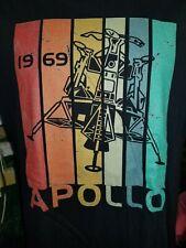 Apollo 1969 black ladies 3XL t-shirt, The first spaceflight/men to walk on moon