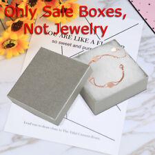 Kinbor 16pcs Jewelry Boxes Christmas Gift Box Cardboard Silver Square