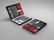 Royalty Line 7-tlg Antihaft-Beschichtung Design Messer Set mit Peeler