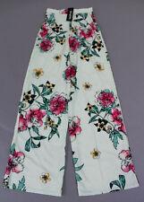 Boohoo Women's Maternity Floral Print Wide Leg Pants TM8 Mint Size US:4 UK:8 NWT