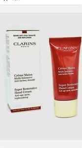 2x CLARINS Super Restorative Hand Cream anti-age replenishing 2x30ml Sealed.