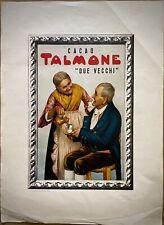 CACAO TALMONE - Due Vecchi - Pubblicita' Originale - ' 50 -